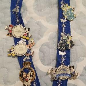 Disney Pins & Lanyard